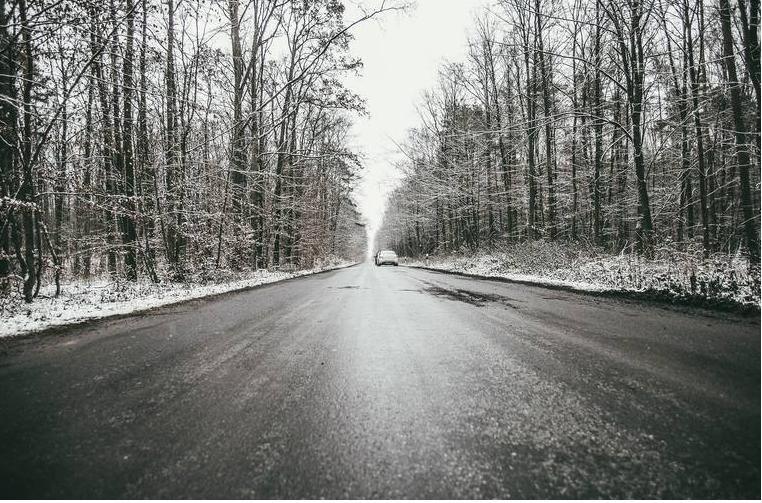 droga śnieg