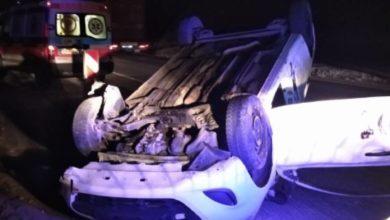 Photo of Samochód dachował na DK1. Uczestnicy wypadku byli objęci kwarantanną
