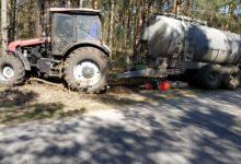 Photo of Motocyklista uderzył w ciągnik. Został przetransportowany do szpitala w Łodzi