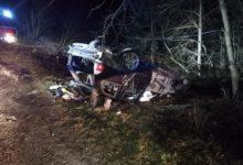 Photo of Pijany kierowca bmw miał wypadek. Wypadł z drogi i dachował
