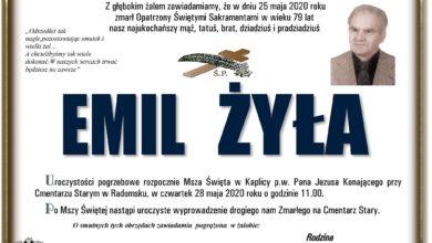 Photo of Zmarł Emil Żyła – radomszczański artysta i fotografik