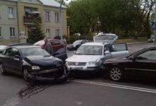 Photo of Zderzenie trzech samochodów osobowych na skrzyżowaniu Kościuszki i Narutowicza