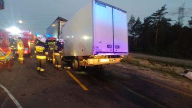 Photo of Śmiertelny wypadek na DK1. Samochód dostawczy zderzył się z ciężarówką