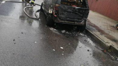 Photo of Pożar samochodu na Przedborskiej. Spłonął Mercedes