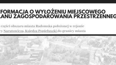 Photo of Wyłożenie planu zagospodarowania w rejonie ulicy Narutowicza i Księdza Popiełuszki