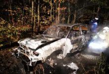 Photo of Pożar samochodu w lesie