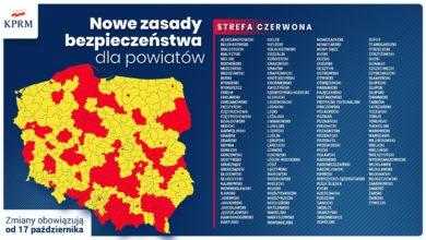Photo of Powiat radomszczański w czerwonej strefie.  Nowe obostrzenia od 17 października!