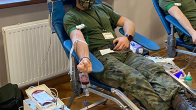 Photo of Łódzcy Terytorialsi oddają krew